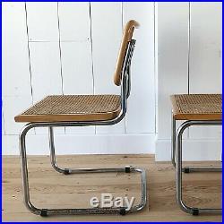 1 chaise cannée design Marcel Breuer modèle B32 vintage 1970 1980