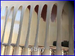 12 Couteau Entremet CHRISTOFLE Modèle CLUNY 19,5cm Couvert Métal Argenté Fromage