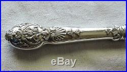 12 Couteaux De Table En Metal Argente Christofle Vintage Modele Regence