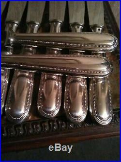 12 Couteaux de Table Modèle Perles CHRISTOFLE