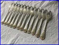 12 Fourchettes Escargot CHRISTOFLE Modèle Marly Couverts Métal Argenté Ménagère