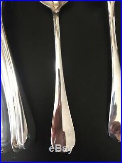 12 couverts Christofle en métal argenté modèle baguette(24 pièces)