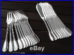 12 couverts à poisson métal argenté modèle filet (24 pièces)