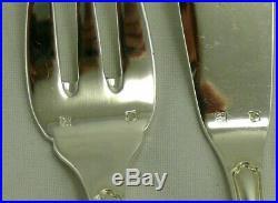 12 couverts à poisson modèle Contours, 24 pièces, métal argenté, excellent état