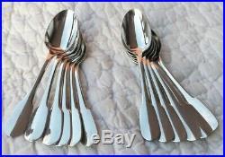 12 cuillères à espresso/moka métal argenté modèle Cluny orfèvrerie Christofle