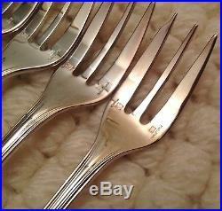 12 fourchettes à gâteaux Christofle modèle Spatours métal argenté