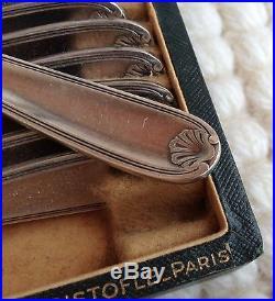 12 fourchettes à gâteaux Christofle modèle coquille Bérain métal argenté