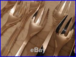 12 fourchettes à gâteaux + pelle à tarte modèle Orly Christofle métal argenté