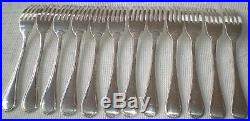 12 fourchettes à poisson Chrisotel modèle rubans métal argenté CARLTON CANNES