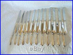 24 couteaux christofle model spatours en métal argenté superbe état