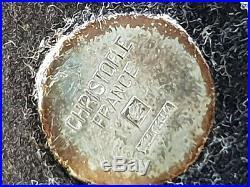 4 dessous verre gravés christofle modèle fermiers généraux métal argenté