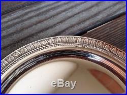 6 assiettes à pain en métal argenté Christofle modèle Malmaison
