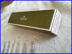 6 couteaux à entremets dessert CHRISTOFLE en métal argenté modèle perles n°812