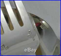 Alfénide/Christofle modèle Mira/Ondulation, ménagère 36 pièces, métal argenté