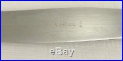 Alfénide/Christofle modèle Turgot/Rubans, 10 couteaux de table, métal argenté