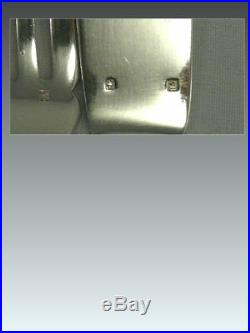 Alfénide modèle Lauriers/Rubans, 6 couverts à poisson, 12 pièces métal argenté