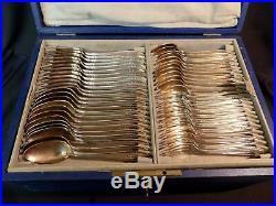 B 1910 ARGENTAL ménagère 86 pièces métal argent modèle art nouveau couvert chic