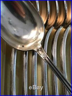 BELLE MENAGERE Metal Argente Modele EMPIRE 39 Pièces / ARGENTERIE ANCIENNE
