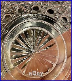 Baccarat 3 Coupes Cristal & Metal Argenté Modele Diamants pierrerie
