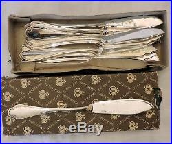 Beau Service A Poisson En Metal Argente Modele Pompadour Christofle 24 Pieces