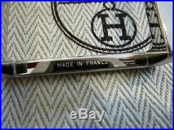 Boucle de ceinture Hermès argent modéle initial + dustbag Hermès