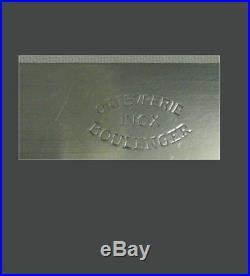 Boulenger, 12 couteaux de table modèle Coquille, métal argenté, écrin d'origine