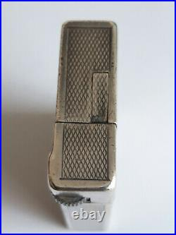 Briquet à Essence ancien DUNHILL Modèle SAVORY, Métal argenté, Années 1930