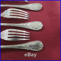 CHRISTOFLE 11 fourchettes à poisson en métal argenté modèle marly