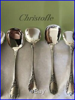 CHRISTOFLE 12 PELLES A GLACE Modèle MARLY en métal argenté