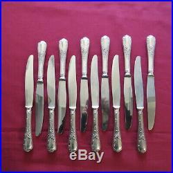 CHRISTOFLE 12 couteaux à entremet en métal argenté modèle marly L 19,5 cm 4
