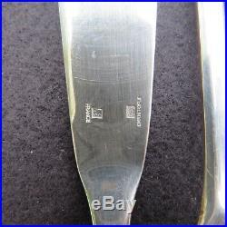 CHRISTOFLE 12 couteaux a poisson en métal argenté modèle cluny
