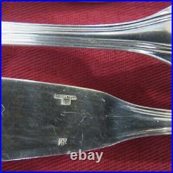 CHRISTOFLE 12 couteaux à poisson en métal argenté modèle spatours 3