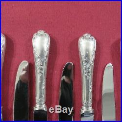 CHRISTOFLE 12 couteaux de table en métal argenté modèle marly 4