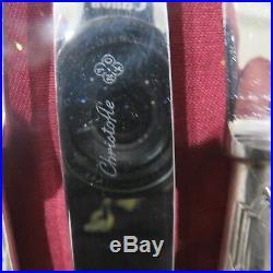 CHRISTOFLE 12 couteaux de table en métal argenté modèle ruban