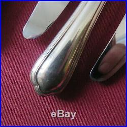 CHRISTOFLE 12 couteaux de table en métal argenté modèle spatours 2