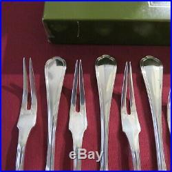 CHRISTOFLE 12 fourchettes à escargot en métal argenté modèle spatours en boite
