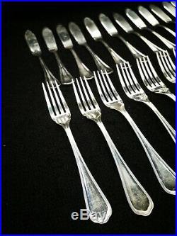 CHRISTOFLE 24 couvert à poisson en métal argenté modèle spatours