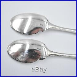 CHRISTOFLE 6 Cuillères à sauce individuelle métal argenté modèle AMERICA spoon