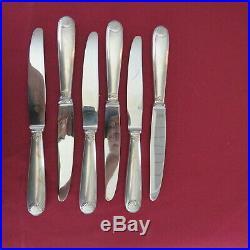 CHRISTOFLE 6 couteaux à entremet en métal argenté modèle coquille Vendôme 1
