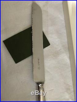 CHRISTOFLE Couteau a pain Métal argenté. Modèle RUBAN. NEW