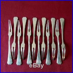 CHRISTOFLE France 12 fourchettes a escargot en métal argenté modèle américa