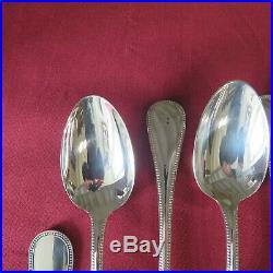 CHRISTOFLE France ménagère de 37 couverts en métal argenté modèle perle
