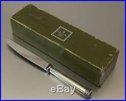 CHRISTOFLE MODELE MALMAISON 12 GRANDS COUTEAUX STYLE EMPIRE METAL ARGENTE Ca1970