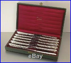 CHRISTOFLE MODELE SPATOURS 12 GRANDS COUTEAUX DE TABLE METAL ARGENTE Ca1970
