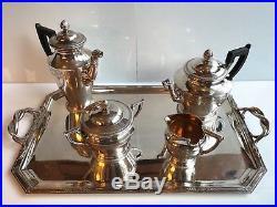CHRISTOFLE Modèle Empire service à thé et café métal argenté