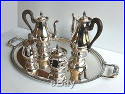 CHRISTOFLE Modèle MALMAISON service à thé et café métal argenté