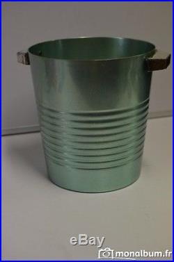 CHRISTOFLE TRES RARE SEAU A CHAMPAGNE DESIGN 70 ODAL modèle spécial sup+++