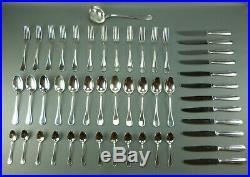 CHRISTOFLE, ménagère 49 pièces en métal argenté, modèle PERLES