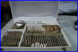 CHRISTOFLE ménagère 60 couverts en métal argenté modèle DAX en écrin