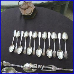 CHRISTOFLE ménagère de 37 couverts en métal argenté modèle Versailles 2
